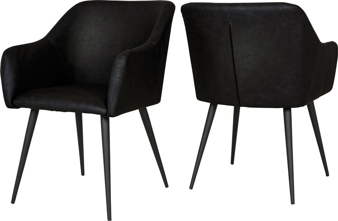 Detroit stol, armlene svartsvart Køb hos Utleie Partner