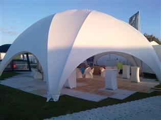 Bubble telt - Hexadome - 10 x 10 m